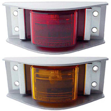 Narrow Rail Clearance/Marker Light with Housing & 4 Hole Mount