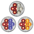 14 LED 4 Inch Stop, Turn And Tail Light With Dual Color LEDs