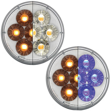 14 LED 4 Inch PTC Light And Turn Signal With Dual Color LEDs