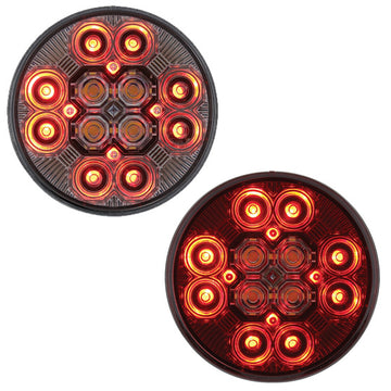 4 Inch 12 LED Combo Light With Stop, Turn And Tail Light With Back-Up Light