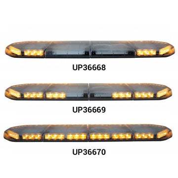 49 Inch LED Warning Light Bar in 26 Flash Pattern & Lightheads