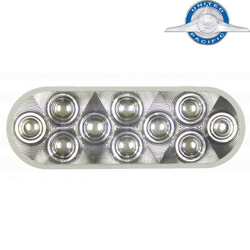 20 White LED 6 Inch Oval Back-Up Light