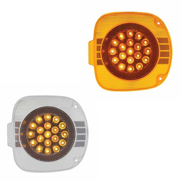 Freightliner 22 LED Turn Signal with Chrome Reflector