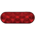 10 LED Oval Stop, Turn And Tail Light With Red Lens