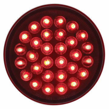 30 Red LED 4 Inch Round Stop/Turn/Tail Light Competition Series