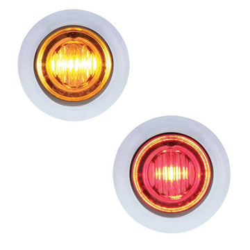 Amber/Red 3 LED Dual Color Mini Clearance/Marker Light
