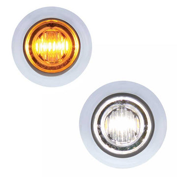 Amber/White 3 LED Dual Color Mini Clearance/Marker Light