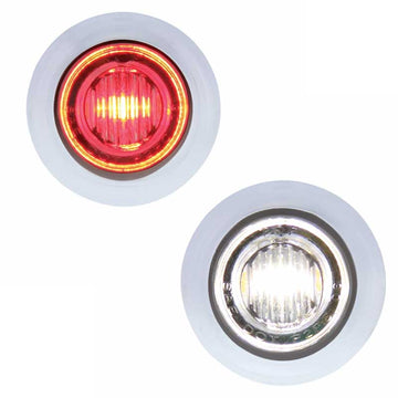 Red/White 3 LED Dual Color Mini Clearance/Marker Light