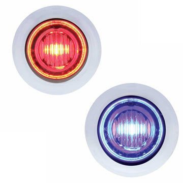 Red/Blue 3 LED Dual Color Mini Clearance/Marker Light