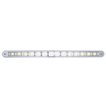 14 LED 12 Inch Auxiliary Warning Light Bar With Bezel