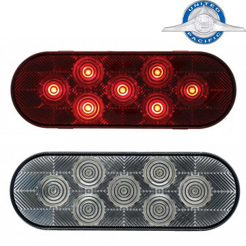 7 Red LED 6 Inch Oval Stop/Turn/Tail Light