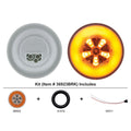 4 Inch GLO Turn Signal Light Kit With Amber LED And Lens