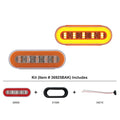6 Inch Oval GLO Turn Signal Light Kit With Amber LED And Lens