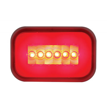 14 Red LED Rectangular S/T/T GLO Light