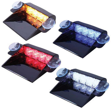 4 LED Dash Strobe Light with Adaptor in 4 LED Colors