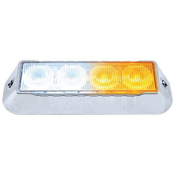 4 LED Warning Light Amber/White
