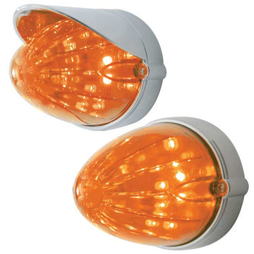 19 LED Auxiliary Light Flush Mount/Dark Amber Lens