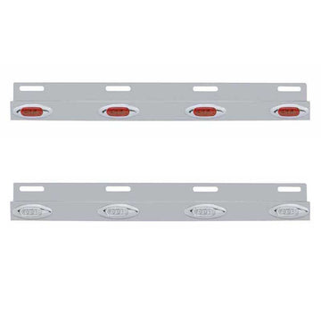 Stainless Top Mud Flap Bracket with Four 3 LED Light