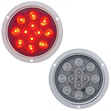 12 LED Stop/Tail/Turn Light with Bubble Lens & Deep Dish