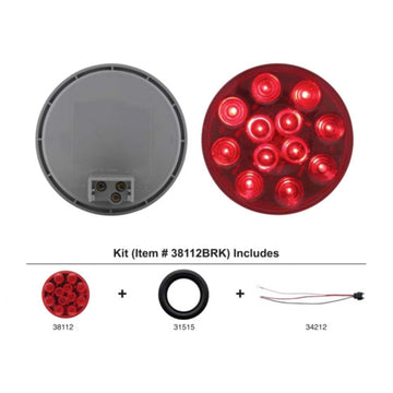 4 Inch Stop, Turn And Tail Light Kit With Red LEDs And Lens