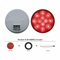 4 Inch Stop, Turn And Tail Light Kit With Red LEDs And Reflective Lens
