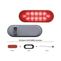 6 Inch Oval Stop, Turn And Tail Light Kit With Red LEDs And Reflective Lens