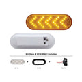Oval Sequential Turn Signal Light Kit With 35 Amber LEDs