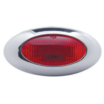 LED Phantom 2 Light With Chrome Bezel 5 LED (UP38221) Red LED / Red Lens