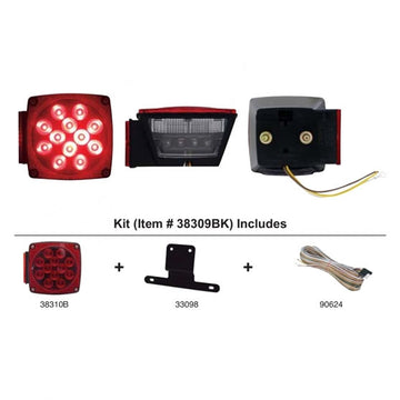 LED Submersible Combination Light Kit For Trailers Over 80 Inches