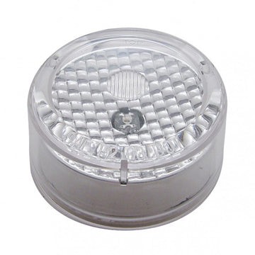 1 LED 2 1/2 Inch Flat Crystal Clearance And Marker Light