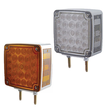 Square Double Face Turn Signal Light LED Double Stud