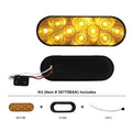 10 LED 6 Inch Oval Turn Signal Light Kit