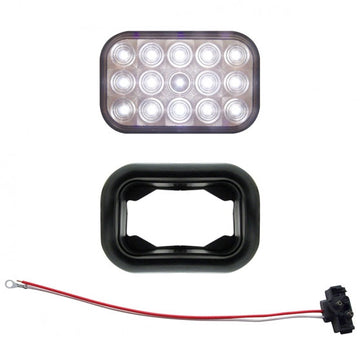 15 LED Rectangular Auxiliary And Utility Light Kit