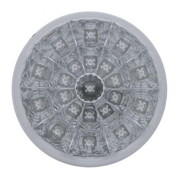 21 LED 4 Inch Reflector Stop, Turn And Tail Light With Clear Lens
