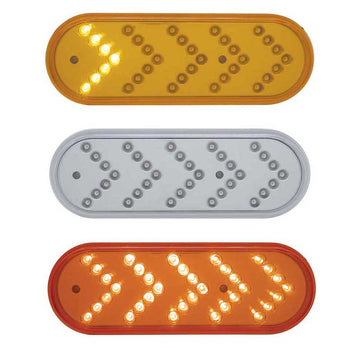 35 LED Reflector Oval Sequential Turn Signal
