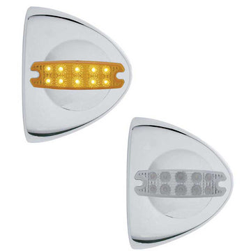 10 LED Reflector Headlight Turn Signal Cover