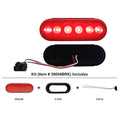 6 LED 6 Inch Oval Stop, Turn And Tail Light Kit