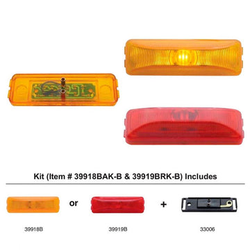 1 LED Rectangular Clearance And Marker Light Kit