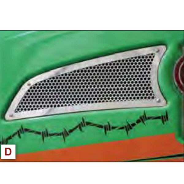Kenworth T660 Replacement Punched Intake Trim Screen