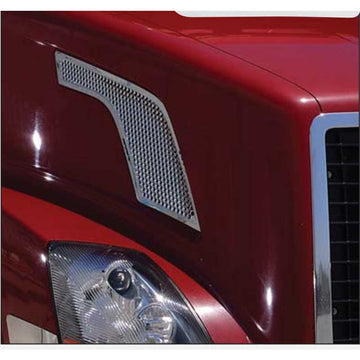 Chrome Volvo VNL Hood Air Intake Grill
