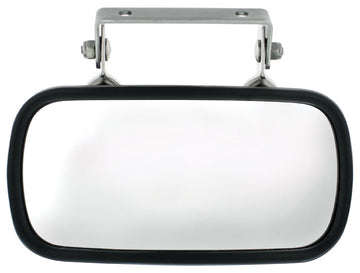 Stainless Rectangular Convex Mirror with U-Bracket