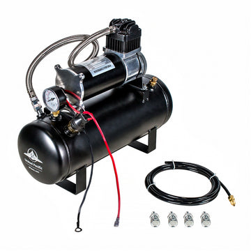 Competition Series Heavy Duty 12 Volt 140 PSI Air Compressor And Tank Kit