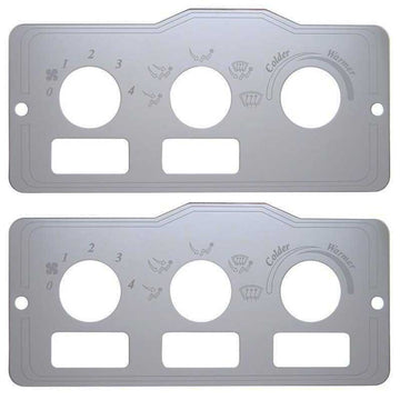 Stainless Peterbilt A/C Control Plate