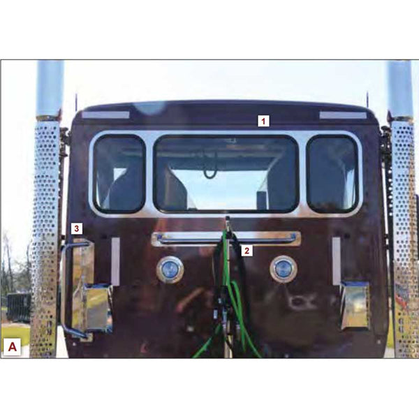 T680/T880 Daycab Center Bar Trim