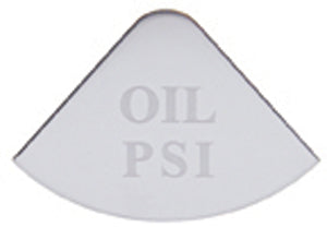 Freightliner Stainless Oil PSI Gauge Emblem