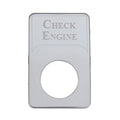 Kenworth Engraved Check Engine Indicator Plate