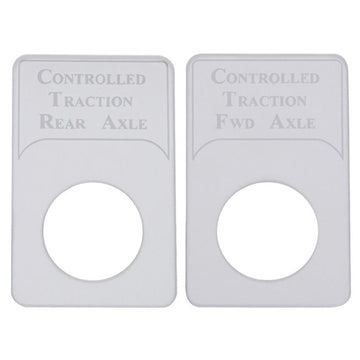 Kenworth Engraved Controlled Traction Axle Indicator Light Plates