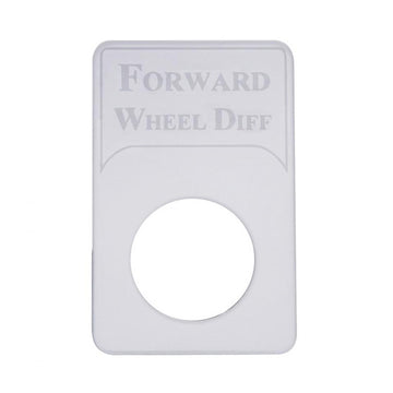 Kenworth Engraved Forward Wheel Diff Indicator Light Plate