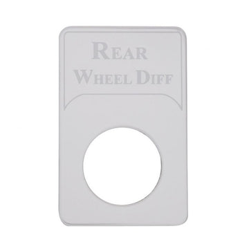 Kenworth Engraved Rear Wheel Diff Indicator Light Plate