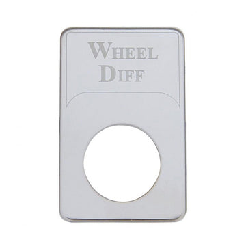 Kenworth Engraved Wheel Differential Indicator Light Plate